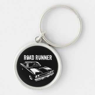 Mopar - 1970 Plymouth Road Runner Silver-Colored Round Key Ring
