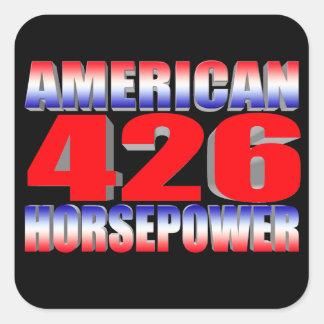 mopar 426 monster square sticker
