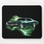 Mopar: '68 Dodge Charger with green lightning Mousepad
