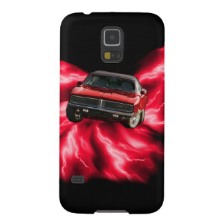 Mopar: '69 Charger on red lightning Cases For Galaxy S5