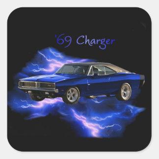 Mopar:  '69 Dodge Charger Square Sticker