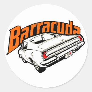 Mopar - Plymouth Barracuda Classic Round Sticker