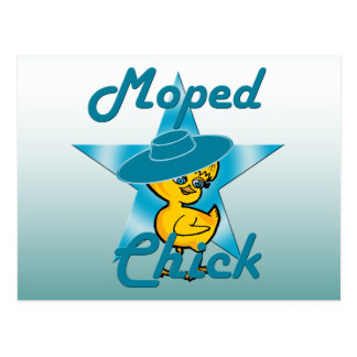Moped Chick #7 Postcard