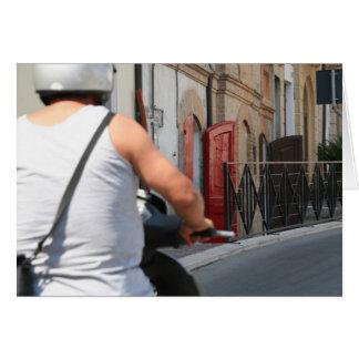 Moped in Torino DiSangro Note Card