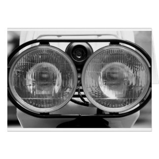 Moped Lights Greeting Card
