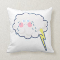 Mopey and Silly Emo Cloud Cushion