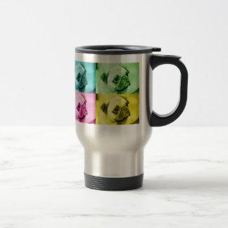 Mops pop art thermobecher kaffeetassen