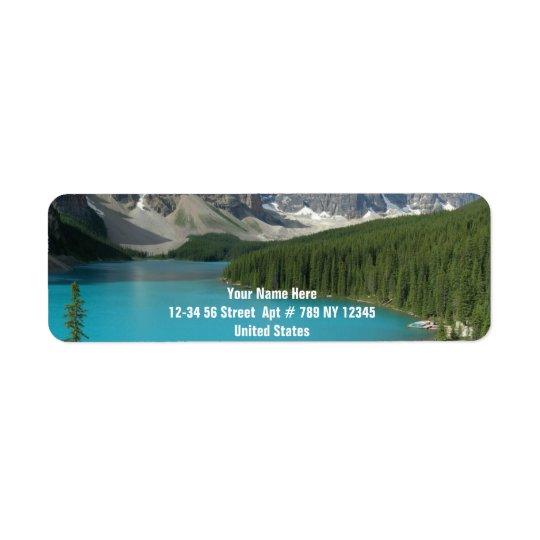 Moraine Lake 1 Return Address Label