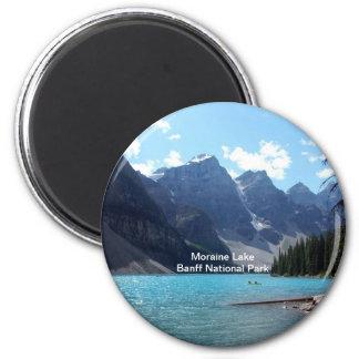 Moraine Lake, Banff National Park, Alberta, Canada 6 Cm Round Magnet