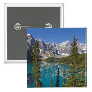 Moraine Lake, Canadian Rockies, Alberta, Canada 2 15 Cm Square Badge