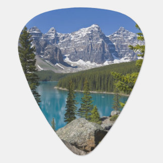 Moraine Lake, Canadian Rockies, Alberta, Canada Guitar Pick