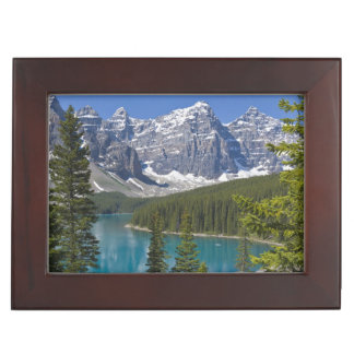 Moraine Lake, Canadian Rockies, Alberta, Canada Keepsake Box