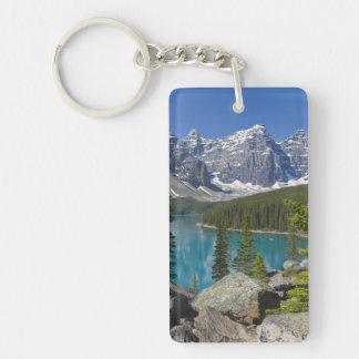 Moraine Lake, Canadian Rockies, Alberta, Canada Key Ring