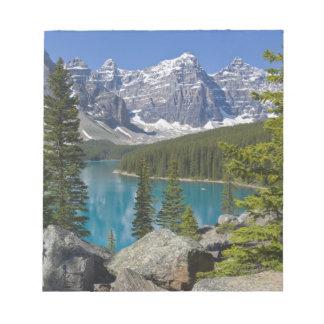 Moraine Lake, Canadian Rockies, Alberta, Canada Notepad