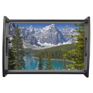 Moraine Lake, Canadian Rockies, Alberta, Canada Serving Tray