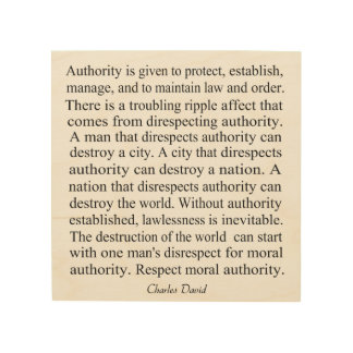 Moral Authority Wood Wall Decor