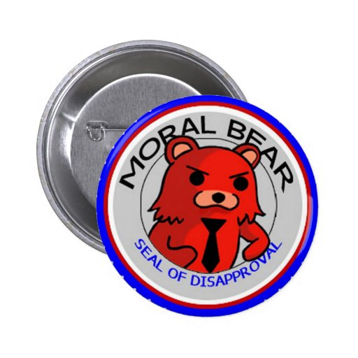 Moral Bear Button of Disapproval