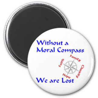 Moral Compass 6 Cm Round Magnet