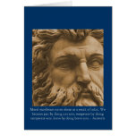 Moral excellence comes about as a result... greeting card