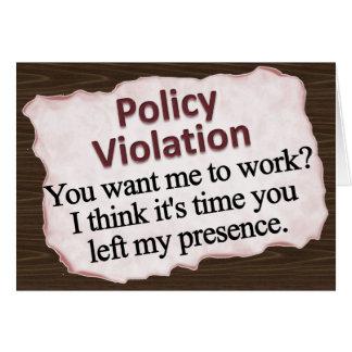 Moral Policy Violation  Note Card