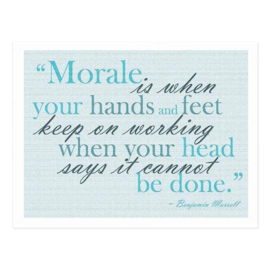 Morale Quote Motivational Postcard