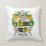 Morales Family Crest Throw Pillows