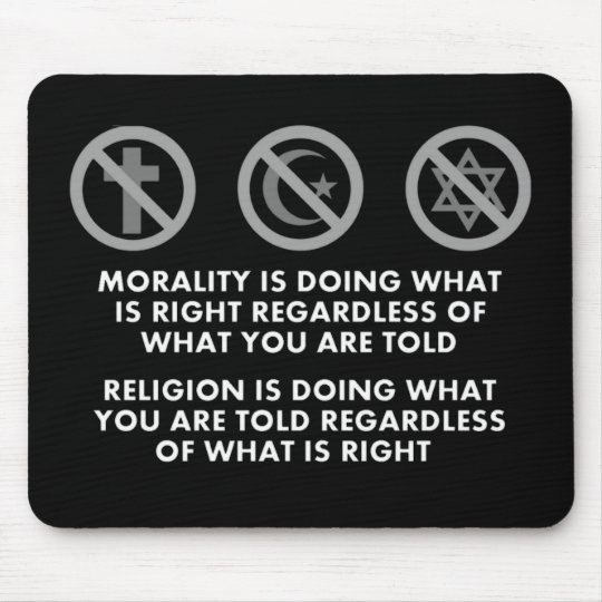 Morality and Religion Mouse Pad