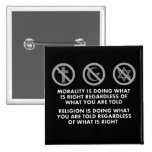 Morality and Religion Pinback Button