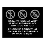 Morality and Religion Postcard