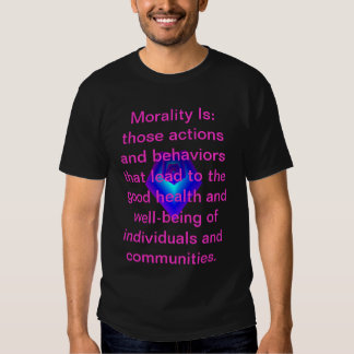 """""""Morality Is"""" - mens T-shirt"""