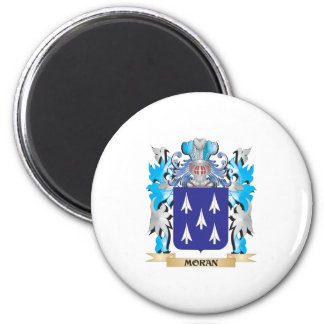 Moran Coat of Arms - Family Crest 6 Cm Round Magnet