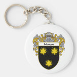 Moran Coat of Arms (Mantled) Basic Round Button Key Ring