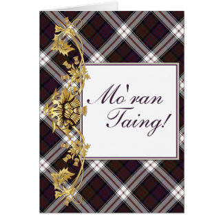 """Mo'ran Taing!"" Clan MacDonald Tartan & Thistles 2 Card"