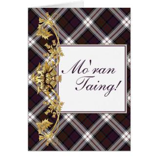 """Mo'ran Taing!"" Clan MacDonald Tartan & Thistles 2 Note Card"