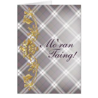 """Mo'ran Taing!"" Clan MacDonald Tartan & Thistles Note Card"