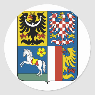 Moravian Silesian Region, Czech Classic Round Sticker