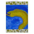 moray eel fish sealife coastal decor card