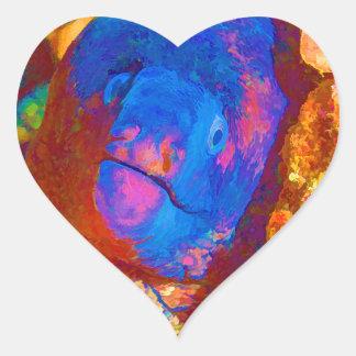 Moray Eel Heart Sticker