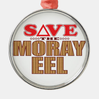 Moray Eel Save Silver-Colored Round Decoration