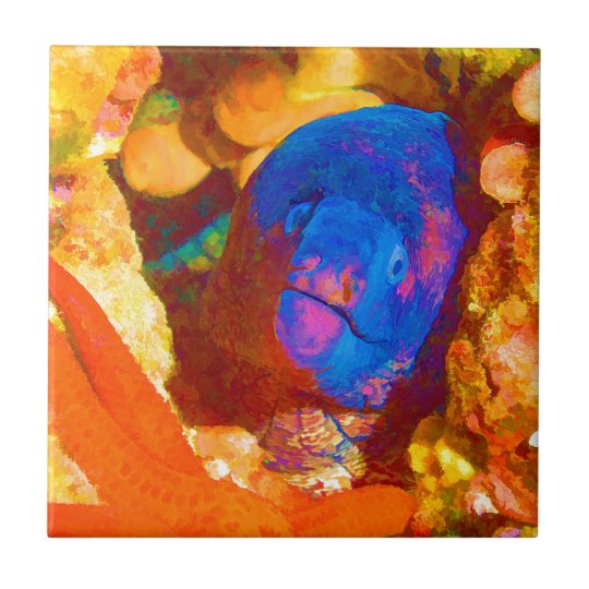 Moray Eel Small Square Tile