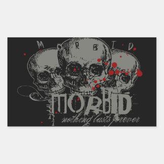 Morbid Rectangular Sticker