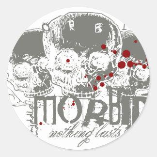 Morbid Round Stickers
