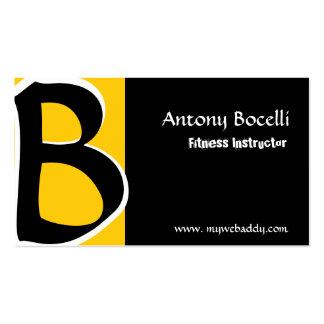 Mordenist Monogrammed  Black Gold Business Card Templates