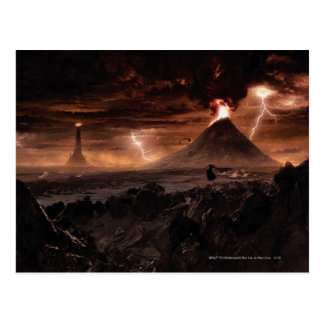 Mordor Lightning Storm Postcard