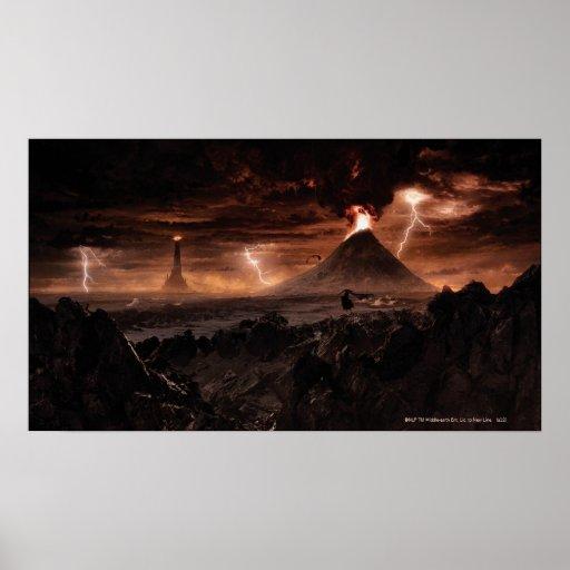 Mordor Lightning Storm Poster