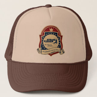 More beach-warmly logo coat of arms trucker hat