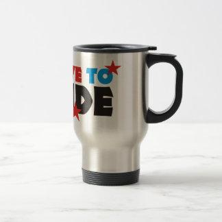 more biker stainless steel travel mug