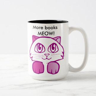 More books MEOW! Two-Tone Coffee Mug
