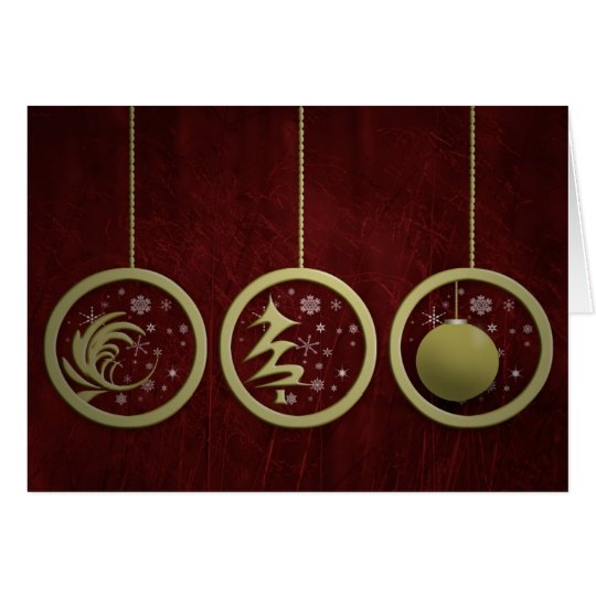More Christmas Ornaments Card