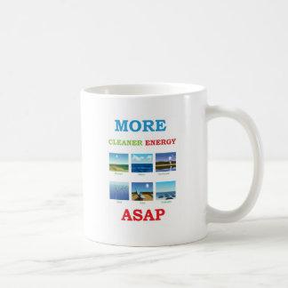 more cleaner energy asap basic white mug